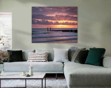 Kleurrijke zonsondergang in Zeeland van Sander Grefte