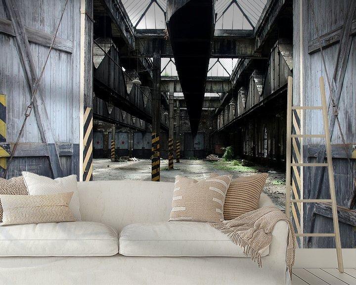 Beispiel fototapete: Verlassene Halle von Ton van Waard - Pro-Moois