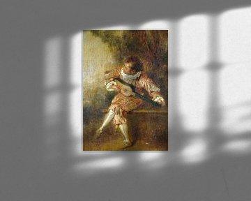 Jean-Antoine Watteau, der Stifter der Serenaden (Mezzetino) - 1715