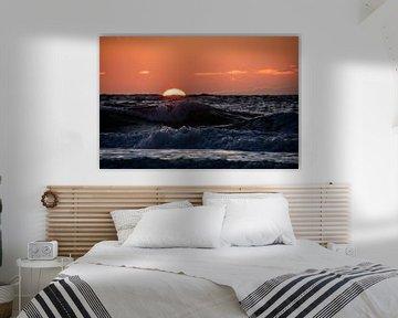 Sonnenuntergang Nordsee von Marjolein van Roosmalen