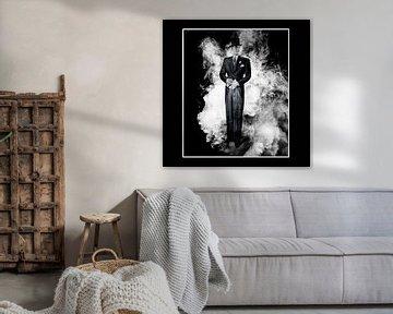 Man in de wolken - 1 van Veerle Van den Langenbergh