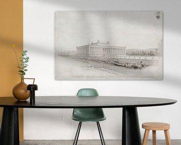 Karl Friedrich Schinkel, Berlin. Altes Museum im Lusthof. Perspektive der Schlossbrücke - 1823 von Atelier Liesjes