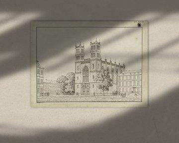 Karl Friedrich Schinkel, Berlin. Friedrichswerder Kirche. Design wie nach Fertigstellung des Gebäude von Atelier Liesjes
