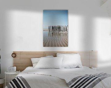 Vlissingen - Zeeuws Landschap - Reflectie op het strand van Eleana Tollenaar