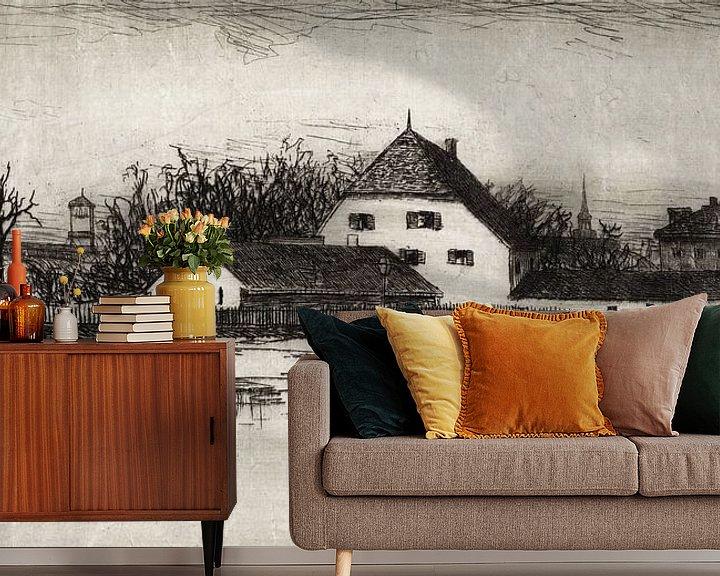 Sfeerimpressie behang: Lewis Henry Meakin, München van het Marsfeld - 1884 van Atelier Liesjes