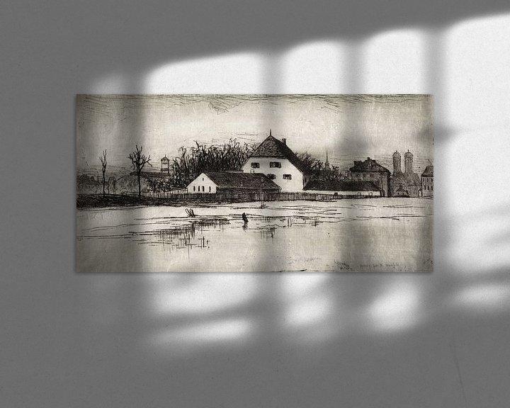 Sfeerimpressie: Lewis Henry Meakin, München van het Marsfeld - 1884 van Atelier Liesjes