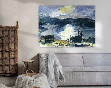 Lovis Corinth, Landschaft um den Walchensee - 1925 von Atelier Liesjes
