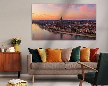 Deventer, Overijssel zonsondergang