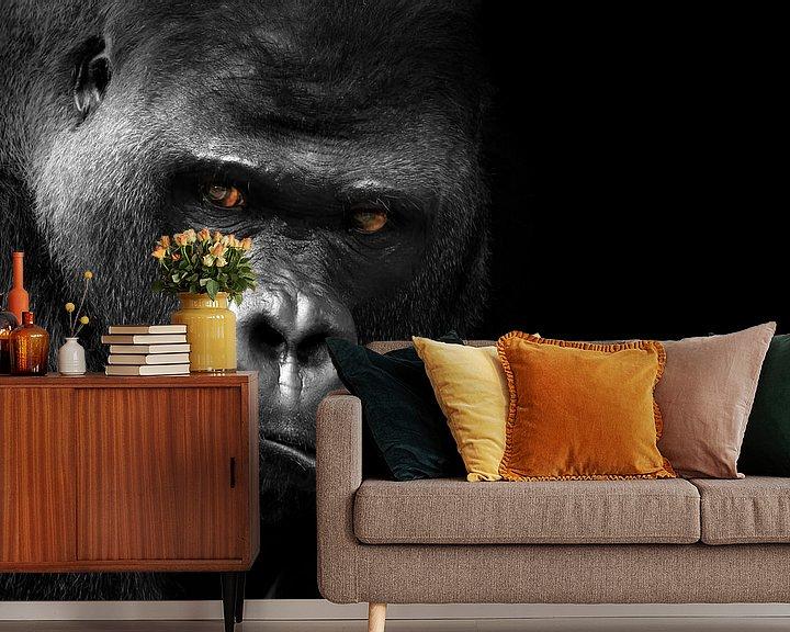 Beispiel fototapete: Gorilla von Heiko Lehmann