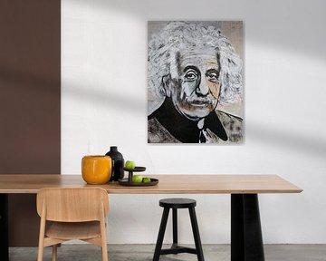 Albert Einstein Emc2 van Kathleen Artist Fine Art