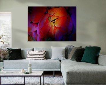 Tulpen in den Augen eines Malers von Thea Walstra