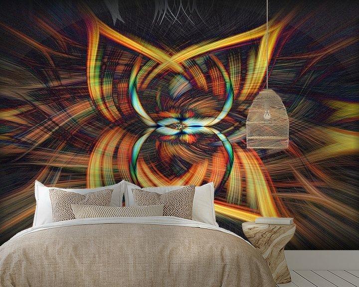 Sfeerimpressie behang: Abstract van Carla van Zomeren