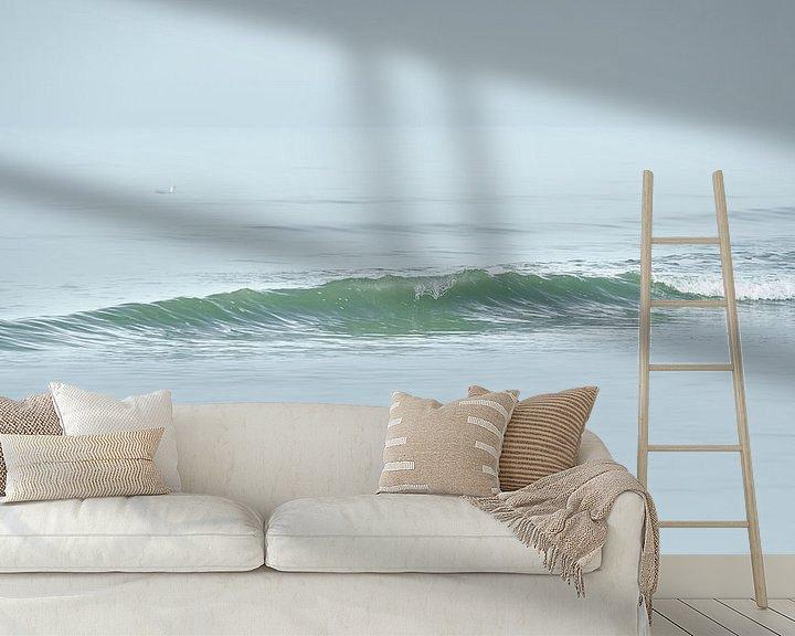 Sfeerimpressie behang: 1025 Gentle wave van Adrien Hendrickx