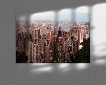 Hong Kong Skyline avond