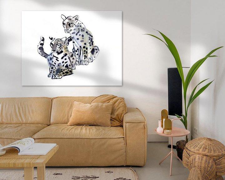Beispiel: Zwei männliche Leoparden von Mark Adlington