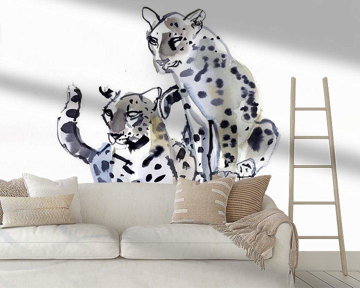 Beispiel fototapete: Zwei männliche Leoparden von Mark Adlington