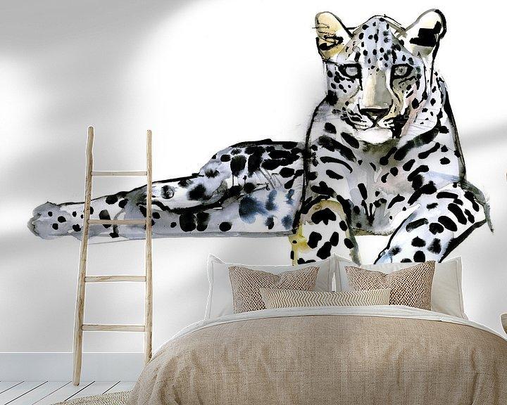 Beispiel fototapete: Arabischer Leopard von Mark Adlington