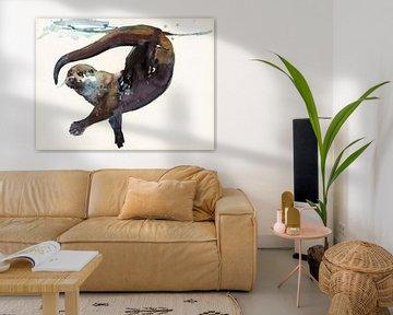 Otter in Bewegung von Mark Adlington