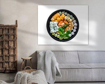 een assortiment sushi op witte achtergrond van ChrisWillemsen