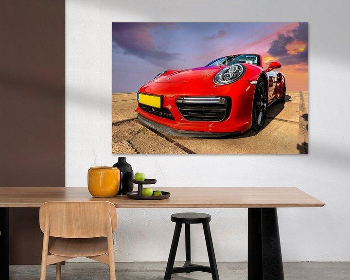 Sfeerimpressie: Porsche Rood van Brian Morgan