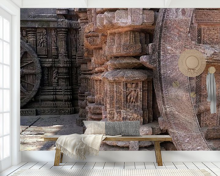 Beispiel fototapete: Sonnentempel-Skulptur in Odisha, Indien von Affect Fotografie