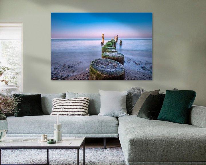 Beispiel: Buhne an der Küste der Ostsee bei Graal Müritz von Rico Ködder