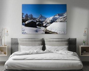 De iconische Matterhorn vanuit Tufteren in Valais Zwitserland van Arthur Puls Photography