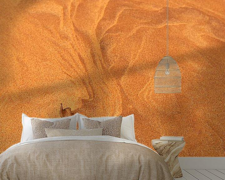 Sfeerimpressie behang: Patronen in het zand van Jeroen Kleiberg