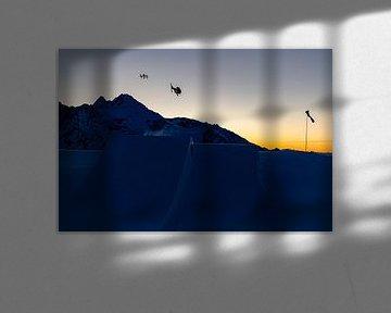 Skier en drone