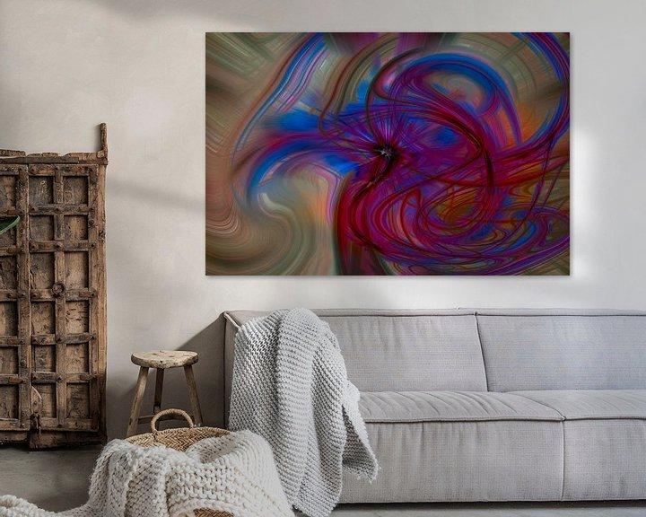 Sfeerimpressie: Digital abstract nr 12 van Leo Luijten