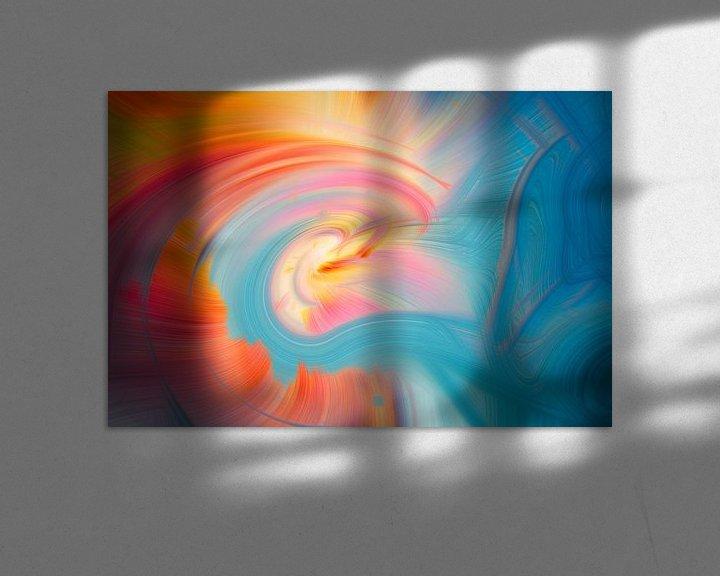 Sfeerimpressie: Digital abstract nr 15 van Leo Luijten