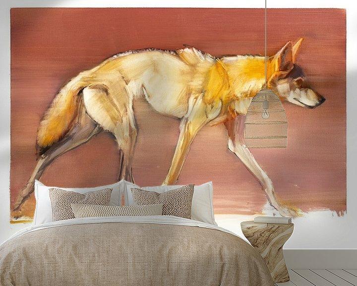 Beispiel fototapete: Arabischer Wolf von Mark Adlington