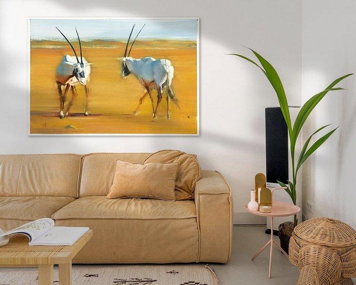 Beispiel: Oryxantilopen von Mark Adlington