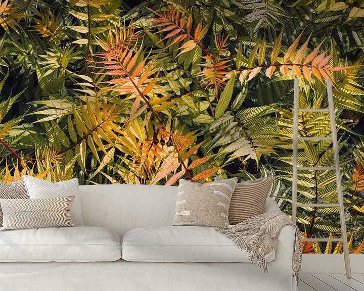Sfeerimpressie behang: Kleurrijk groen van Sran Vld Fotografie