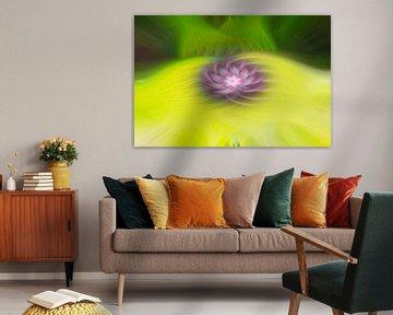 Blüte - Abstrakter Farbstrudel von Steffen Peters