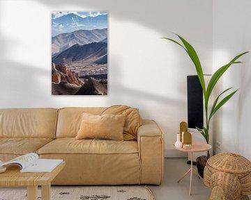 Spectaculair uitzicht over de bergen van de Himalaya   Nepal van Photolovers reisfotografie