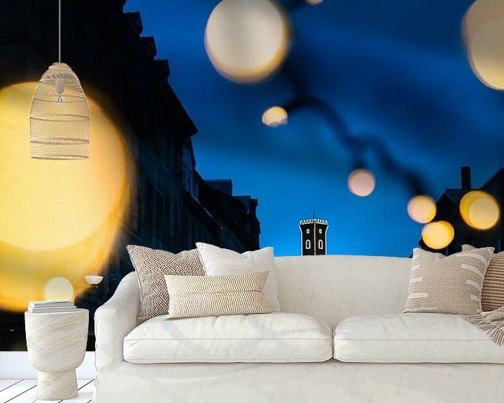 Impression: L'hôtel de ville de Fürth à l'heure bleue sur Faszination Fürth