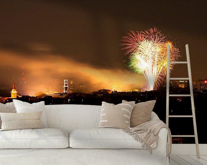 Beispiel fototapete: Fürth Feuerwerk von Faszination Fürth