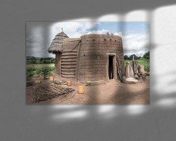 Hutte traditionnelle en terre en Afrique | Bénin