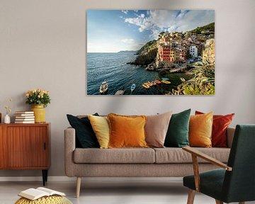 Riomaggiore, Italië van Nico  Calandra