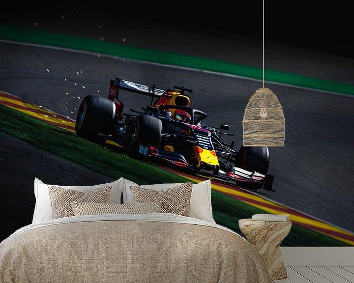 Sfeerimpressie behang: Max Verstappen tijdens de formule 1 grand prix van belgië in Spa-Francorchamps van Rubin Versigny