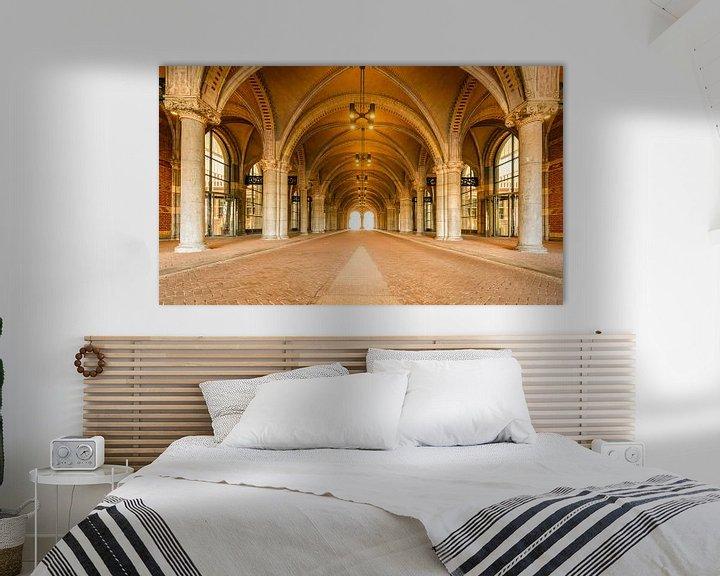 Impression: Tunnel sous le Rijksmuseum à Amsterdam pendant un jour de semaine calme, tôt le matin, avec la lumiè sur Sjoerd van der Wal