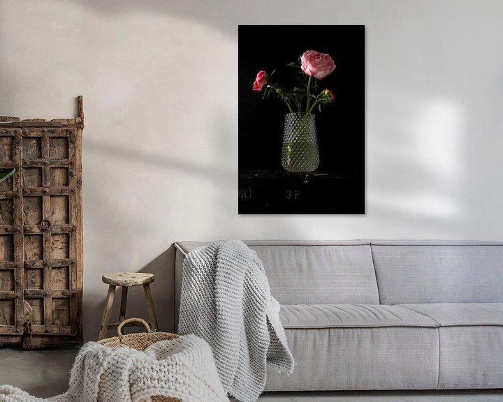Beispiel: Bild einer Vase mit Pfingstrosen. von Therese Brals