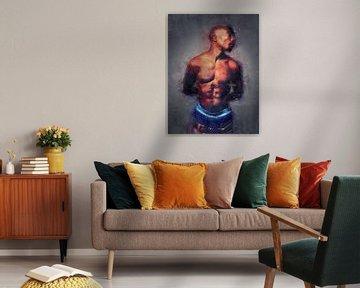 2Pac Shakur Gemälde Ölgemälde Porträt von Bert Hooijer