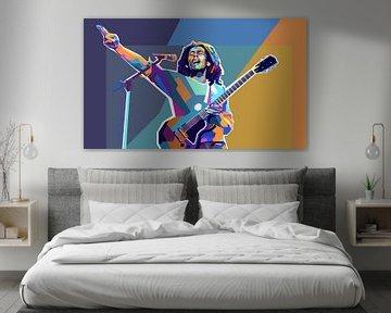 Bob Marley Pop-Art-Malerei Reggae & Dreadlocks von Kunst Company