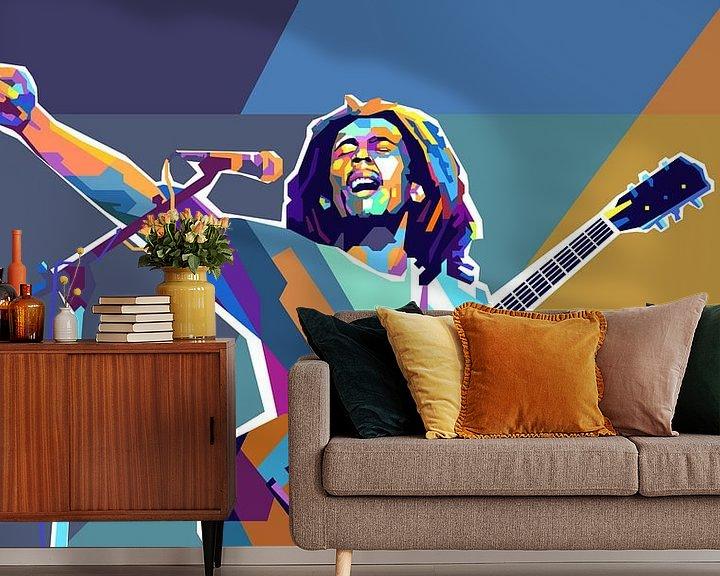 Beispiel fototapete: Bob Marley Pop-Art-Malerei Reggae & Dreadlocks von Kunst Company