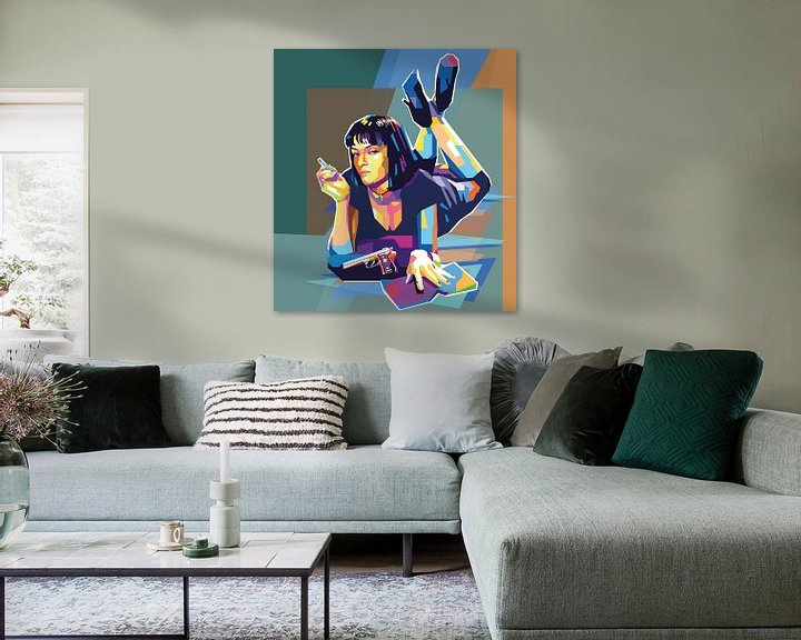 Beispiel: Pulp Fiction Pop Art Malerei Mia Wallace Uma Thurman von Kunst Company