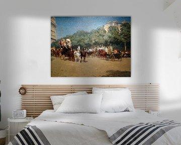 Childe Hassam, Am Tag des Großen Preises, 1887 Paris Le_Jour_du_Grand_Prix von Atelier Liesjes