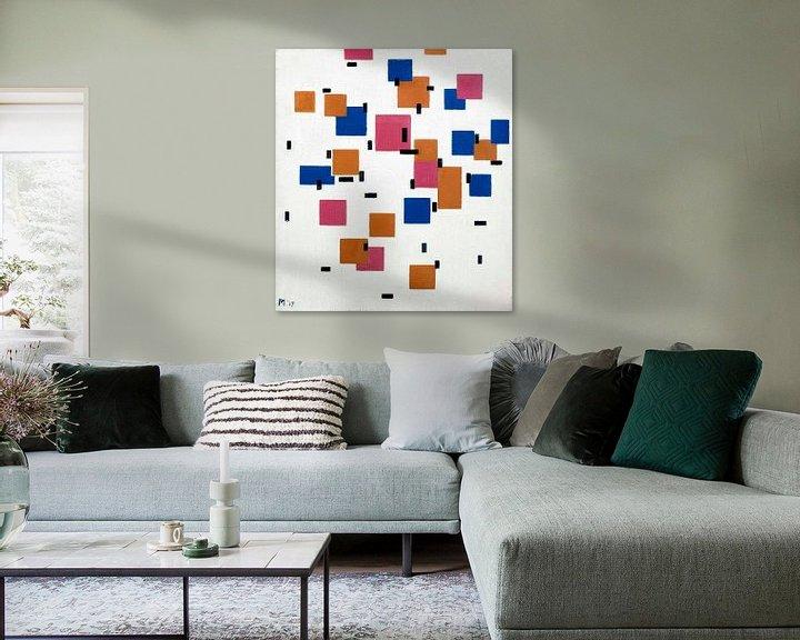 Beispiel: Komposition in Farbe A, Piet Mondriaan