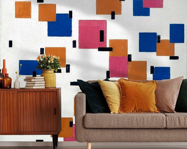 Beispiel fototapete: Komposition in Farbe A, Piet Mondriaan